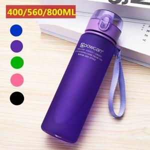 Water Bottle 800ML 560ML 400ML Plastic Drinkware Outdoor Sport School Leak Proof Seal Portable Direct Drinking Water Bottles