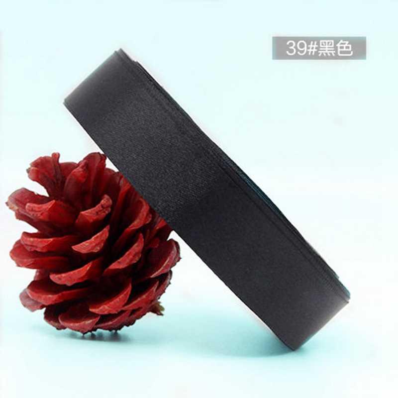 25 חצרות/רול 6mm 10mm 15mm 20mm 25mm 40mm 50mm עבודת יד משי סאטן סרט קשת עבור מלאכות DIY חג המולד מתנות גלישה מספקת