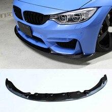 цена на M-P Style Carbon fiber Front Bumper Lip Spoiler Splitter Fit For BMW F8X M3 M4