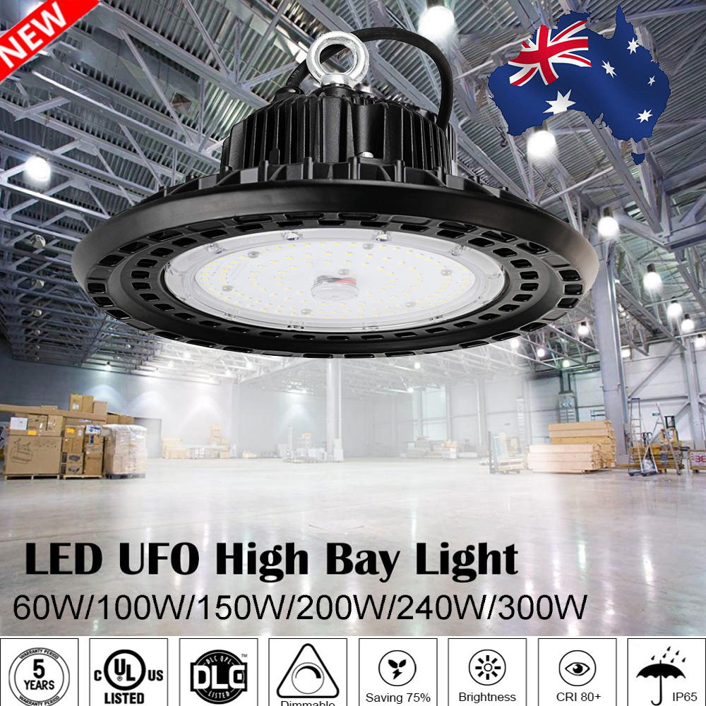UFO LED High Bay Light 60W/100W/150W/200W Commercial Warehouse Industrial Lamp image