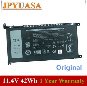 7XINbox 11.4V 42Wh Original WDX0R WDXOR 3CRH3 T2JX4 Laptop Battery For Dell Inspiron 13 7368 14-7460 15 7560 17 5765 5767 5770 free shipping 58wh new genuine original c4mf8 5kg27 battery for dell inspiron 14 7000 14 7437 p42g series laptop