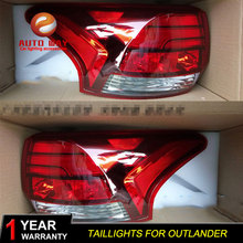 Car Styling Tail Lamp case for Mitsubishi Outlander taillights 2015 2018 Tail Lights LED Rear Lamp LED tail lights