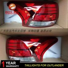 Cubierta de faro trasero para coche Mitsubishi Outlander, luces traseras LED, luces traseras