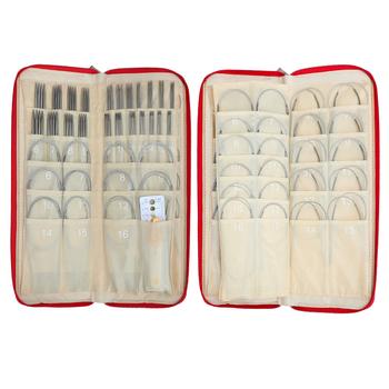 121 sztuk zakończone z dwóch stron zestaw drutów do robienia na drutach proste igły + okrągły zestaw igieł szydełko plecione wyroby narzędzia z torbą tanie i dobre opinie CN (pochodzenie) STAINLESS STEEL KN025-C1 do szycia ręcznego Circular Knitting Needles Kit 1 5mm 1 75mm 2mm 2 25mm 2 5mm 3mm 3 5mm 4mm 4 5mm 4 75mm 5mm