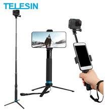 TELESIN 0,9 M Erweiterbar Aluminium Legierung Selfie Stick + Abnehmbare Stativ Telefon Halter für GoPro Insta360 Osmo Action Zubehör