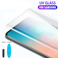 screen film liquid 10 PCS UV Liquid Curved Full Glue Tempered Glass With retail box For Samsung Galaxy Note 10 S10 S10 Plus Screen Protector Film (2)