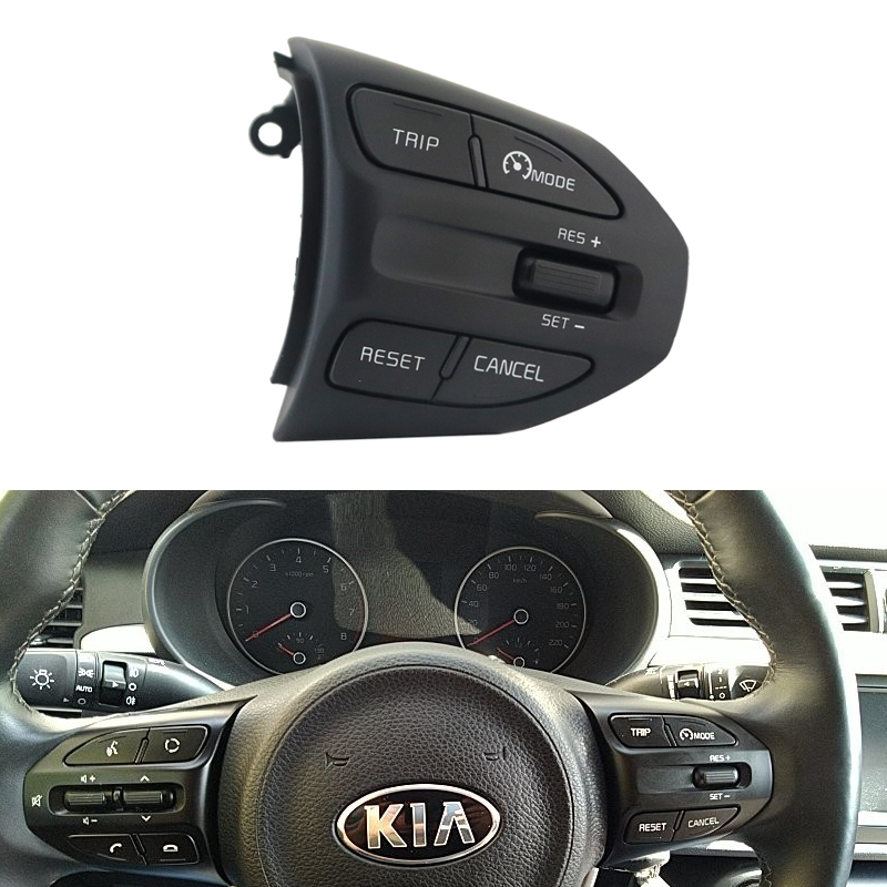 Steering Wheel Remote Bluetooth Cruise Control Volume Multifunction button For Kia K2 RIO 2017 2018 2019 4 X LINE august ikslain