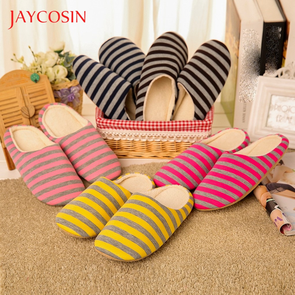 Jaycosin shoes woman winter shoes Warm home slippers women Plush Slippers Anti-slip Floor Bedroom Shoes slides chaussures femme 1