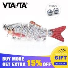 VTAVTA Fishing Lure Multi Jointed Hard lure Crankbait  10cm 19.3g Lifelike joint bait 6 Segments Wobblers Swimbait
