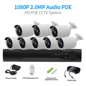 Image 1 - CCTV System 4CH 2MP POE NVR 1080P POE IP Camera  IR Night Vision Motion Detection Security Surveillance System