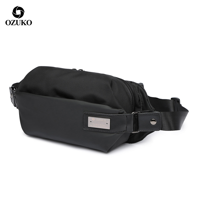 Ozuko New Style Men Chest Pack Creative Casual Cross-body Shoulder Bag Sports Multi-functional Men Chest Pack