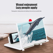 Mobile Phone Screen 3D Magnifier Enlarge 3-4 Times High Definition Amplifier Foldable FKU66