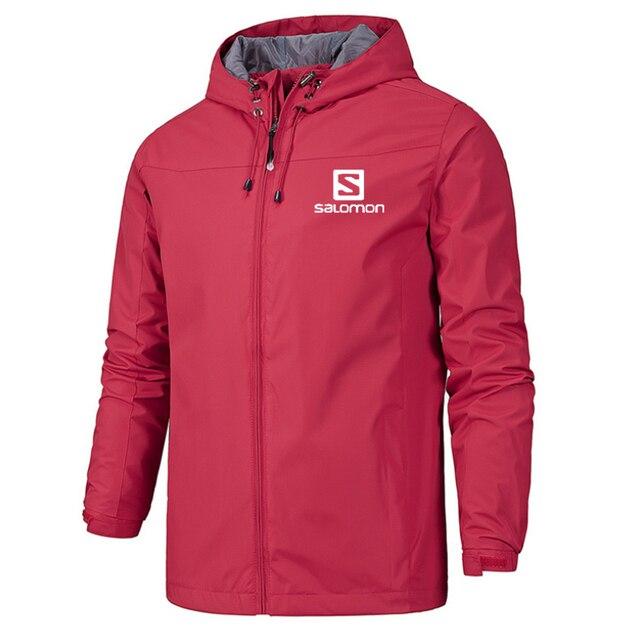 New Spring Jacket Men Hooded Zipper Waterproof Coat Windproof Solid Color Fashion Male Coat Outdoor Sportswear Bomber Coats 5XL 3