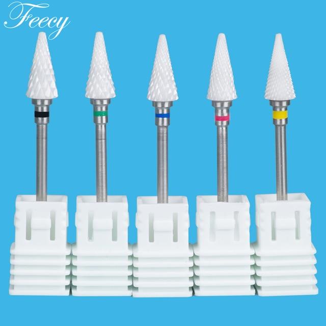 Ceramic Cutter For Manicure Nail Drill Bits Mill For Manicure Nail Drill For Electric Machine Milling Cutter Pedicure Feecy 6T 5
