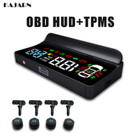 HUD TPMS Head Up Display Special car electronics obd display heads up car display Speed Water temperature Gear 4 sensor T1