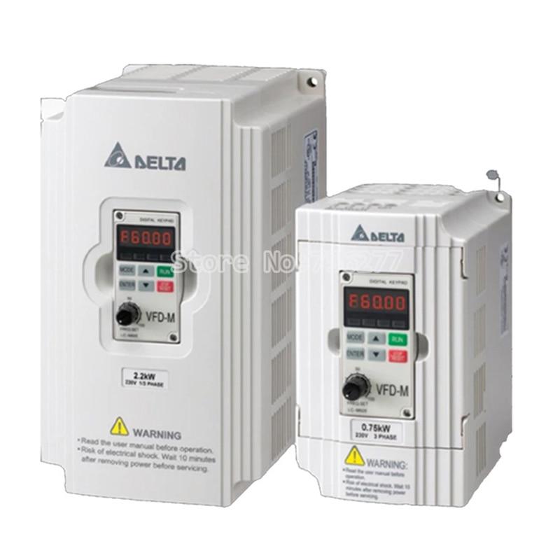 New origina VFD-M series l  VFD004M21A VFD015M21A 220V /380V 0.4KW / 0.75kw /1.5kw /2.2kw inverter