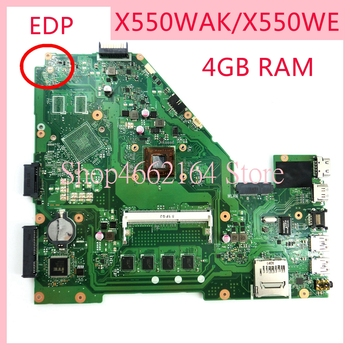 X550WAK motherboard For ASUS X550WA 4GB RAM Laptop motherboard X550 X552W X550WE X550W D552W Notebook mainboard fully tested