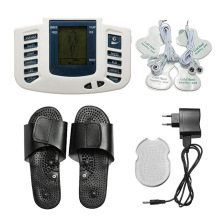Electrical Stimulator Muscle Massager Slipper Electrode Pads Body Relax Pulse Tens Acupuncture Therapy Digital Machine P electrical stimulator full body relax muscle digital massager pulse tens acupuncture with therapy slipper 16 pcs electrode pads