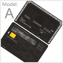 بطاقة معدنية بطاقة الأعمال الشخصية بطاقة الذهب الأسود كرت هدية مخصصة تصميم وإنتاج الأمريكية صريحة