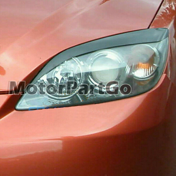 Real Crabon Fiber Head light Eyelid Eyebrow Cover Trim 1pair for Mazda 3  2010-2013 T192 1