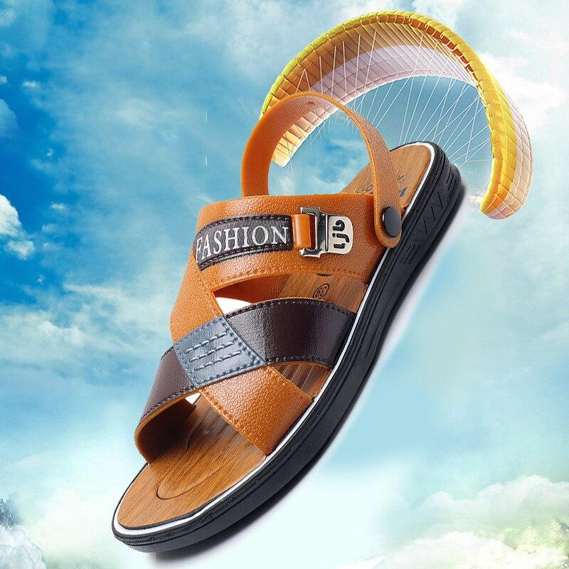 Купить мужские сандалии в вьетнамском стиле модные шлепанцы с открытым