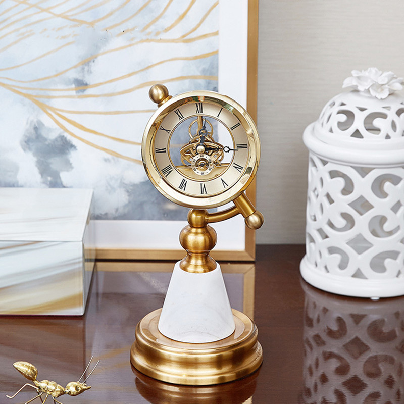 Table clock for home decor,metal high quality desk clocks for christmas gift,new arrival