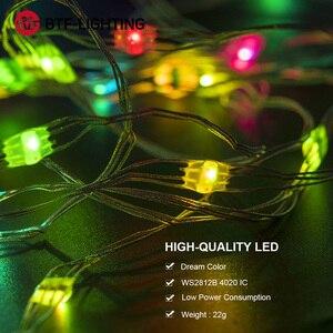 Image 5 - USB WS2812B RGB LED Module WS2812 IC LED 10pcs/m Module 5 6m String Strip Light Music Controller Individual Addressable DC5V