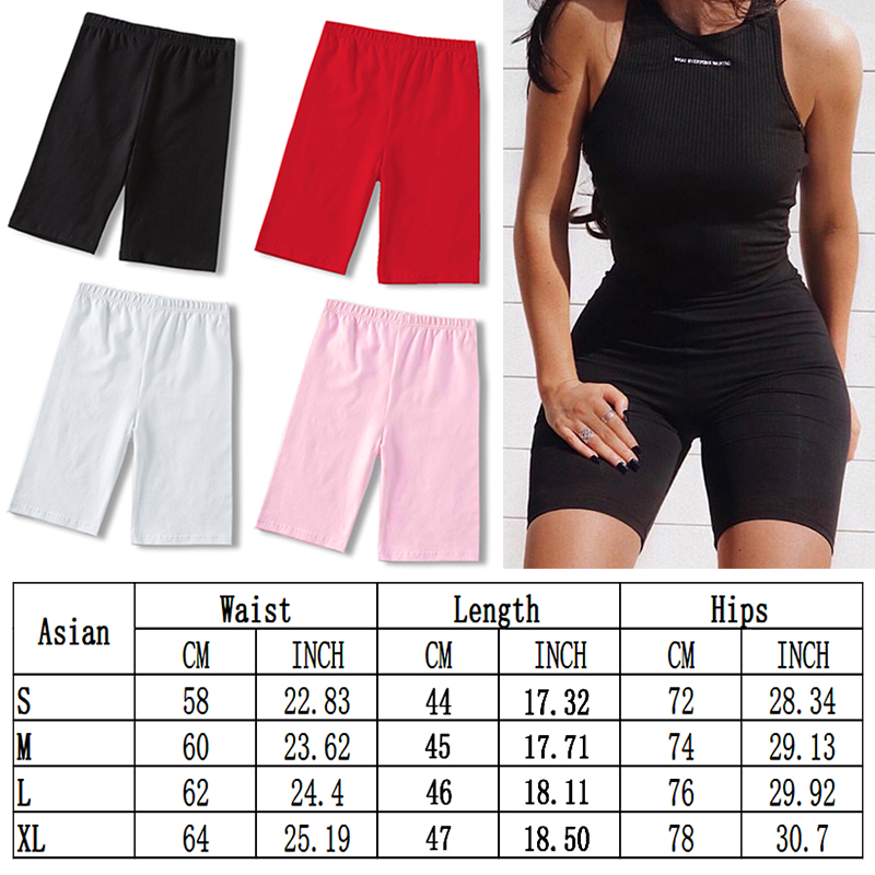Seamless Shorts Women Summer Casual High Waist Fitness Cycling Shorts Black Sexy Skinny Sports Fashion Slim Bottoms Biker Shorts