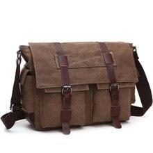 Мужские деловые сумки мессенджеры Scione, холщовая Повседневная офисная и дорожная Сумочка через плечо в стиле ретро