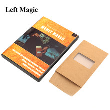Dinheiro-maker (truques e instruções on-line) truques de magia palco rua magia bill desaparecer/aparecendo ilusão truque adereços