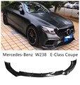 Передний спойлер из углеродного волокна для Mercedes-Benz W238 E-Class Coupe E200 E260 E350 E63 2017-2020 бампер диффузор спойлеры