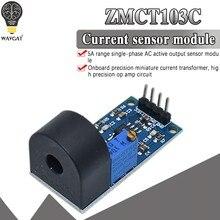Wavgat zmct103c 5a escala fase monofásica ac saída ativa onboard precisão micro módulo transformador atual sensor de corrente