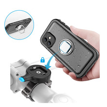 PlusAcc מתכת אופנוע אופני טלפון הר & עמיד למים מקרה עבור iPhone 12/12 מיני/12Pro מקס יציבה מתכוונן רכיבה על אופניים אבזרים