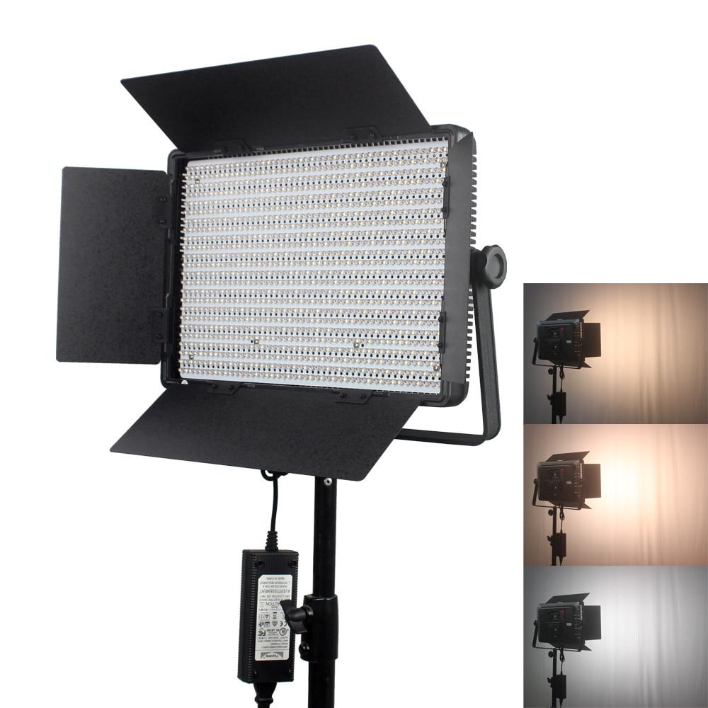 Portable 1200led LED Video Light Panel 3200K 5600K 72W LED Studio Light With V Mount Battery Plate+Light bag|led video light|led studio light|video light - title=