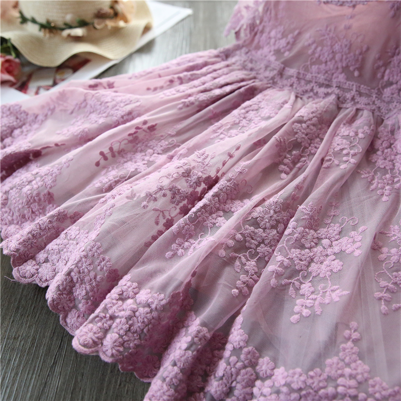 Summer Girl Dress Casual Baby Girls Clothes Kids Dresses For Girls Lace Flower Wedding Gown Children Birthday Party School Wear 5