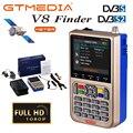 GTMEDIA V8 FINDER METER DVB-S2/S2X Цифровой спутниковый Finder sat Finder HD 1080P Bluetooth с русским испанским польским итальянским
