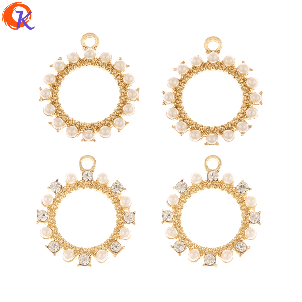 Cordial Design 50Pcs 17*20MM Jewelry Accessories/Earrings Connectors/Charms/Loop Shape/DIY Making/Hand Made/Earring Findings