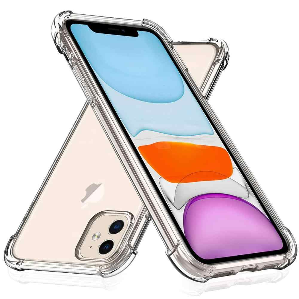 מקרה עבור iPhone 11 Heavy Duty עמיד הלם ברור רך TPU Case כיסוי עבור Apple iPhone 11 פרו Max XR XS X 7 8 5 6 6S בתוספת 7 בתוספת