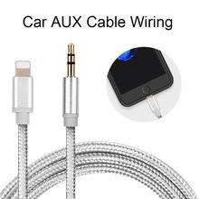 1 м для Lightning/AUX кабеля, автомобильный конвертер, 3,5 мм разъем, кабель для наушников, Aux линия, аудио адаптер для наушников для IPhone, IPad, IOS