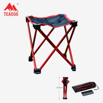 Krzesło wędkarskie na zewnątrz ze stopu Aluminium składany stołek Mini Ultralight przenośne siedzisko turystyczne Sport Camping Travel krzesło wędkarskie tanie i dobre opinie TEAEGG 600D composite PVC Oxford high strength 7075 aluminum alloy bracket silver grey dark red 23cm * 23cm * 26cm 21cm * 21cm * 22cm
