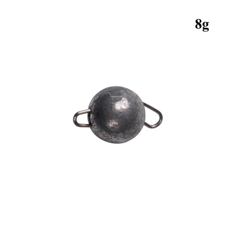 5Pcs Lead Weight With Swivle Cheburashka Sinker Jig Head Lead Weights Fishing Pendulum Antirust Deep Water Fishing Lure Lead Sin
