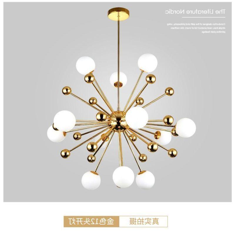 Nordic Led Gouden Hanger Licht Post Moderne Creatieve Paardebloem Hanglamp Wit Glas Bal Eetkamer Keuken Schorsing Armatuur-in Hanglampen van Licht & verlichting op title=
