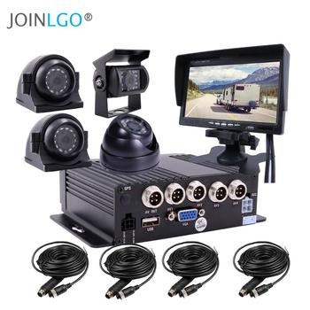 4CH 1080P Mobile Vehicle Car DVR MDVR Video Recorder System with 4 SONY IP69 Rear Side Front Camera for Truck Van Bus RV 7
