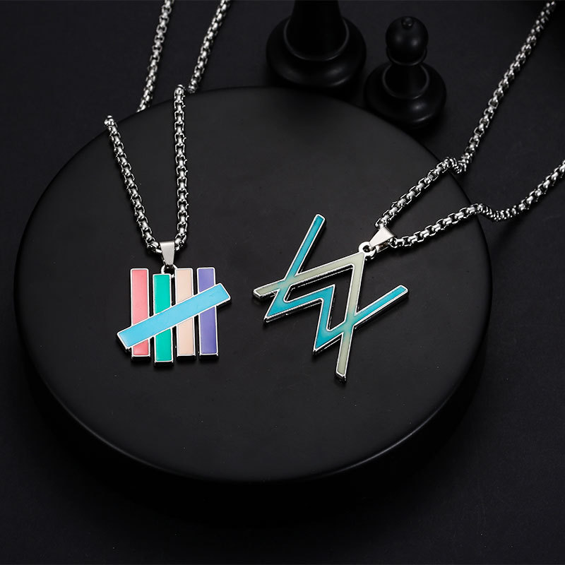 New European and American Alan Walker Metal Pendant Necklace Fashion Hip Hop Rock Jewelry Nightclub Accessory image