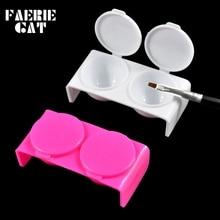 Dish Washing-Cup Dappen-Bowl Nail-Styling-Tools Acrylic Plastic with Cap Liquid-Glitter-Powder