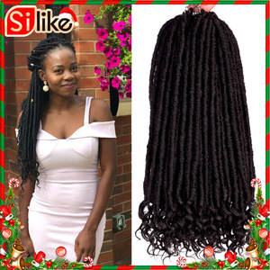 Silike Hair-Extension Braids Crochet Faux-Locs Goddess Pre-Looped Soft Natural Synthetic