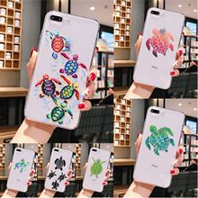 Green Blue Turtle Animal Soft Silicone Transparent Phone Case for iPhone 8 7 6 6S Plus X XS MAX 5 5S SE XR 11 pro max webbedepp jack skellington silicone soft case for iphone 5 se 5s 6 6s plus 7 8 11 pro x xs max xr