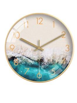 Nordic Luxury Creative Wall Clocks Living Room Bedroom Wall Clock Fashion Minimalist Clock Mute Wall Watch Quartz Clock BB50WC