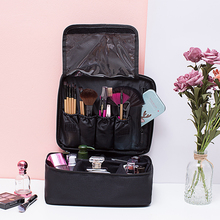 Makeup Train Case Professional Travel Large Cosmetic Cases Bag Bolso Beauty Organizer Storage Pouch box with Adjustable Dividers