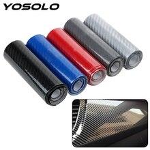 Yoسولو 10cmX152cm لتقوم بها بنفسك 5D عالية لامعة الفينيل فيلم التفاف دراجة نارية سيارة ألياف الكربون تصفيف السيارة الداخلية شريط الياف الكربون